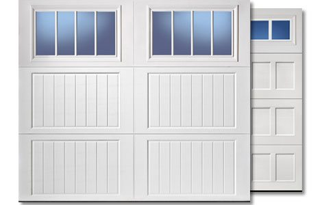 Garage Door feature larger windows