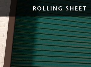 Commercial Garage Door Rolling Sheet Banner