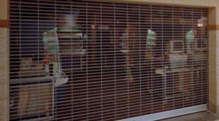 Rolling Slat Commercial Garage Door Model 4300