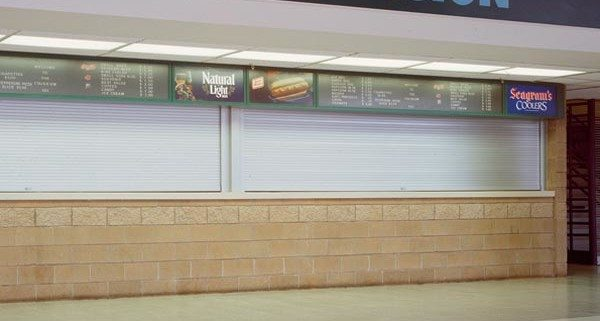 Rolling Slat Commercial Garage Door Model 4400