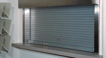 Rolling Slat Commercial Garage door Model 4500